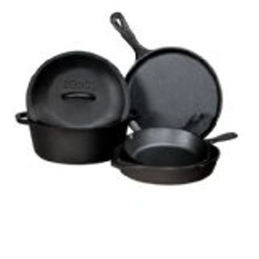 Lodge L5HS3 5-Piece Pre-Seasoned Cast-Iron Cookware Set Review