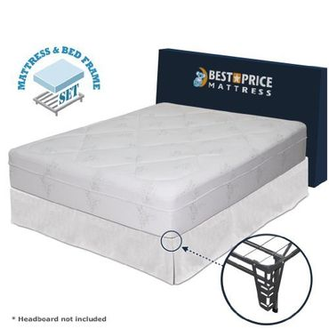Best Price Mattress 12-inch Memory Foam Mattress and Bed Frame