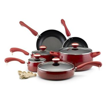 Paula Deen Nonstick 15-Piece Porcelain Cookware Set Review