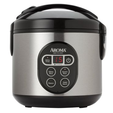 Aroma 8-Cup Digital Rice Cooker and Steamer