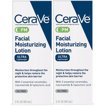 CeraVe PM Moisturizing Facial Lotion